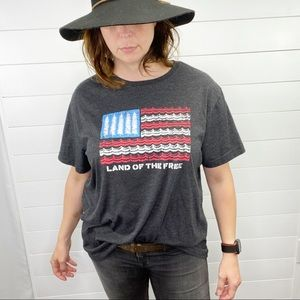 State of Mine Land Of Free American Flag T-Shirt